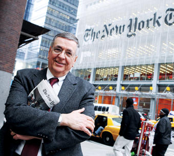 For the past three years, Clark Hoyt '64 has worked to maintain the highest level of journalistic standards at The New York Times. Photo: Daniella Zalcman '09