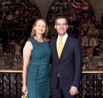 Wakeland and Garcetti met in 1993 while both were Rhodes Scholars; they wed in 2009. PHOTO: COURTESY L.A. MAYOR'S OFFICE
