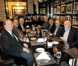 Members of the Class of 1963 enjoyed lunch in December.PHOTO: ANNE-RYAN HEATWOLE JRN'09