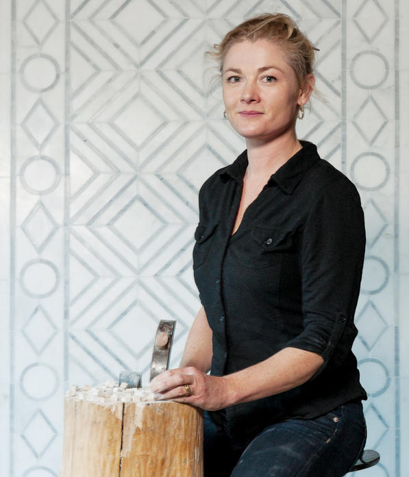 Pippa Murray '96 in her studio with the tools of her trade. PHOTO: Peter Lund