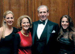 Rothfeld and his wife, Ella M. Foshay '79 GSAS, are flanked by their daughters, Ella '06 and Augusta '08.