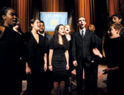 The Clefhangers, one of the school's popular a capella groups, added a musical element to the evening.