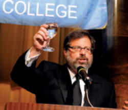 Witten offered a toast to Rothfeld and all the work he has done on behalf of the College.