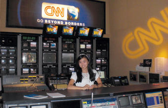 Laura Ly '12 worked at CNN in Hong Kong last summer and saw the control room up close.