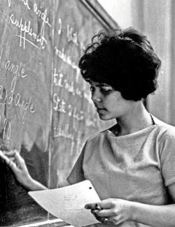 Double Discovery student Maria Martinez, circa summer 1966.  PHOTO: COLUMBIA PUBLIC AFFAIRS OFFICE/ COURTESY COLUMBIA UNIVERSITY ARCHIVES