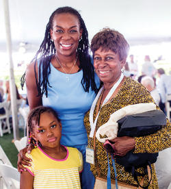 Purdie-Vaughns with her daughter, Marin, and mother, Shirley Purdie.Photo: Scott Rudd