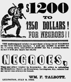 Advertisements for slaves, such as the one by William F. Talbott of Lexington, Ky., were commonplace while Lincoln was growing up.Photo: © PoodlesRock/Corbis