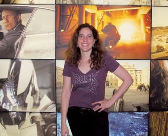 Melinka Thompson-Godoy '98 in the lobby of her office at Double Negative Visual Effects. PHOTO: EMILY PEARCE