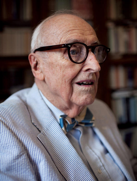 """For more than half a century, Ted de Bary has been the soul of Columbia College."" — Andrew Delbanco PHOTO: NATALIE KEYSSAR"