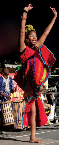 A dancer with N'Fungola Sibo. PHOTO: COURTESY NEW ORLEANS JAZZ & HERITAGE FOUNDATION/ERIC SIMON