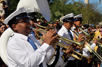 Middle and high school students carry on the New Orleans-style brass band tradition in the Class Got Brass competition. PHOTO: KIM WELSH