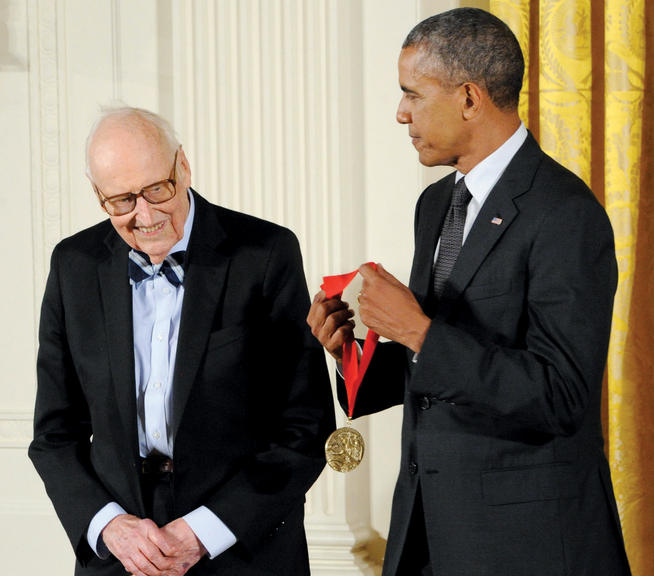 Wm. Theodore de Bary '41, GSAS'53 received a National Humanities Medal for his work in East Asian studies. PHOTO: JOCELYN AUGUSTINO; COURTESY NATIONAL ENDOWMENT FOR THE HUMANITIES