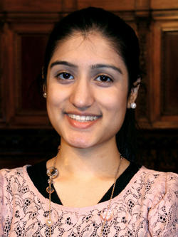 Tehreem Rehman '13 is pursuing interests in women's issues and health care but keeping her career options open. Photo: Caroline Park Kim '13 Barnard