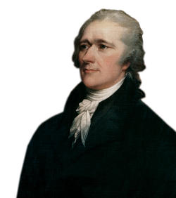 Hamilton in a portrait by John Trumbull. Photo: © Francis G. Mayer/CORBIS