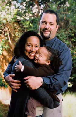 Jealous with his wife, Lia Epperson, and daughter, Morgan.