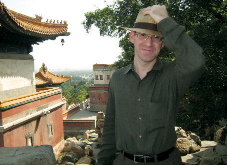 Ardai enjoys a rare moment of leisure touring Beijing. PHOTO: NAOMI NOVIK '00E