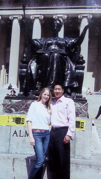Rachel Nichols '03 met her best friend, Albert Lee '02E, '07 Business, during orientation. Photo: Courtesy Albert Lee '02E, '07 Business