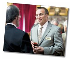 Dean James J. Valentini chatted with alumni throughout the weekend.
