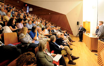 """Students"" hear fresh perspectives at a Dean's Day Public Intellectual Lecture. Photo: Michael DiVito"