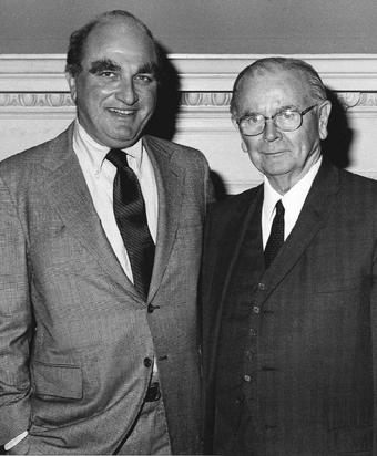 Dorsen with the late Supreme Court Justice Warren J. Brennan Jr. in the 1970s.