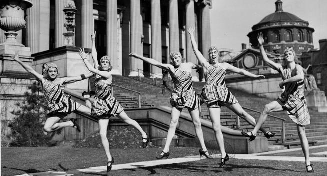 Rehearsing the pony ballet on Low Plaza for 1940's Life Begins in '40.PHOTO: WILD WORLD PHOTOS, INC