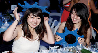 For some seniors at the Annual Senior Dinner, a foam crown offered the finishing touch. PHOTO: GENE BOYARS