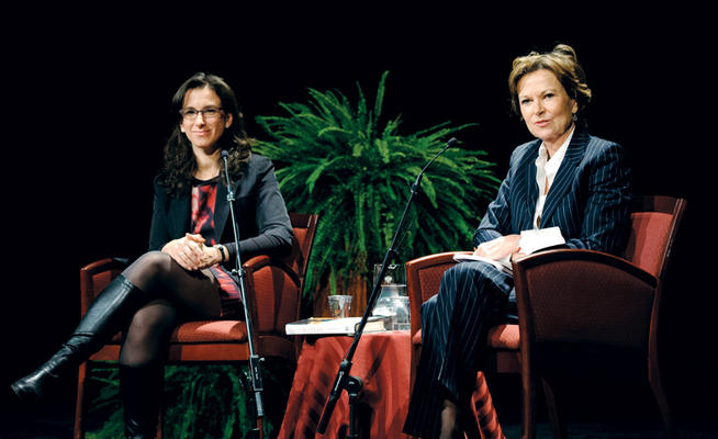 Kati Marton interviewed Kantor in February for the Hazel Rowley Memorial Lecture, a program of the Roosevelt House Public Policy Institute. PHOTO: PHILLIP KESSLER