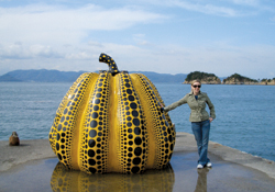 Willdorf's travels have enabled her to see some unusual sights, such as this squash sculpture on Japan's Naoshima Island. Photos: Michael Endelman