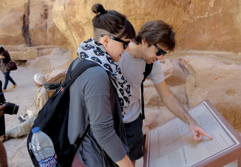 Students participating in the Arabic summer language program at the Columbia Global Center in Amman visit Petra, a world-famous archaeological site in southern Jordan.