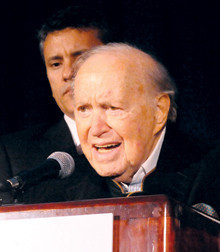 John W. Kluge '37, honorary dinner chair.PHOTO: Eileen Barroso