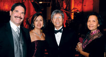 Fernando Ortiz '79 and his wife, Ofelia, with Conrad Lung '72 and his wife, Lin.PHOTO: Eileen Barroso