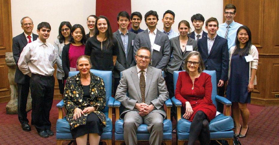 Academic Award Committee with Susan Pedersen, Liza Knapp and Dean Valentini