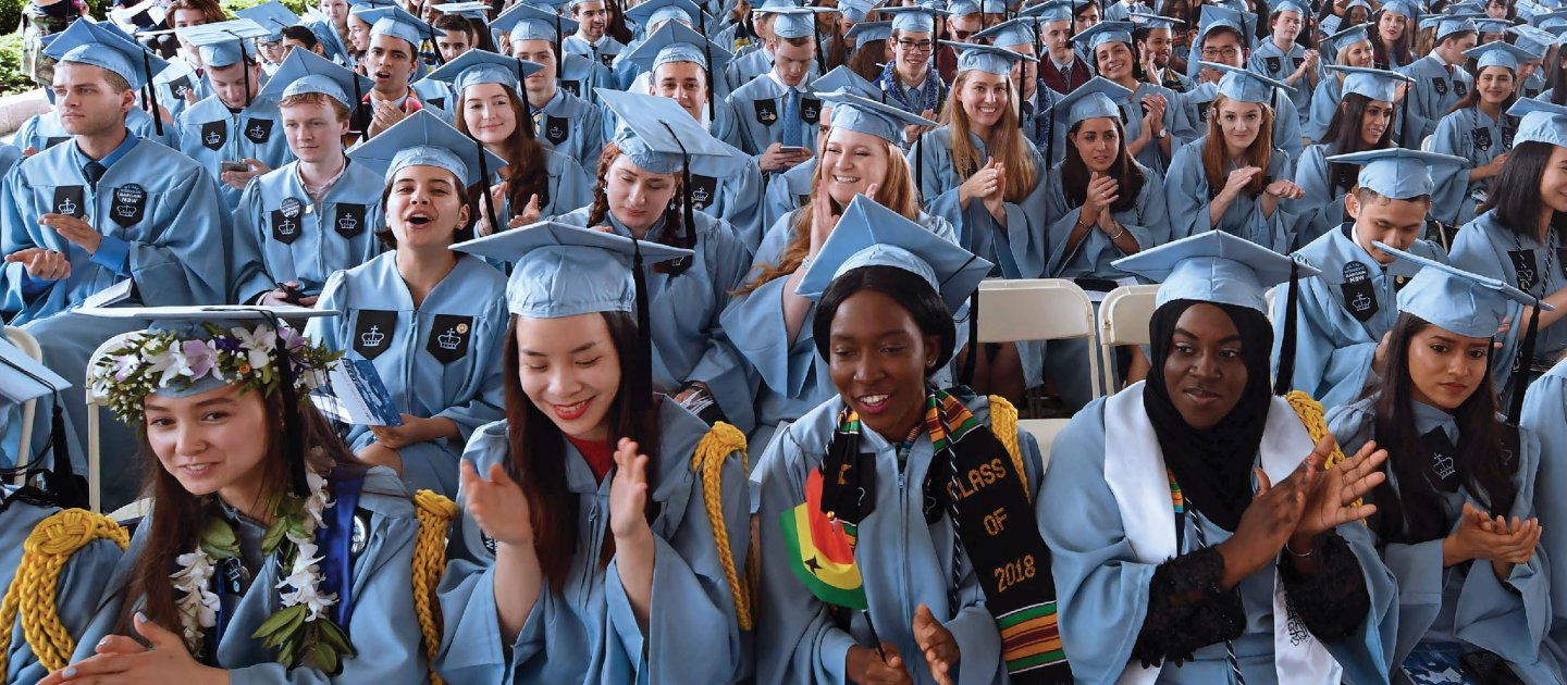 Photo of Columbia University graduates