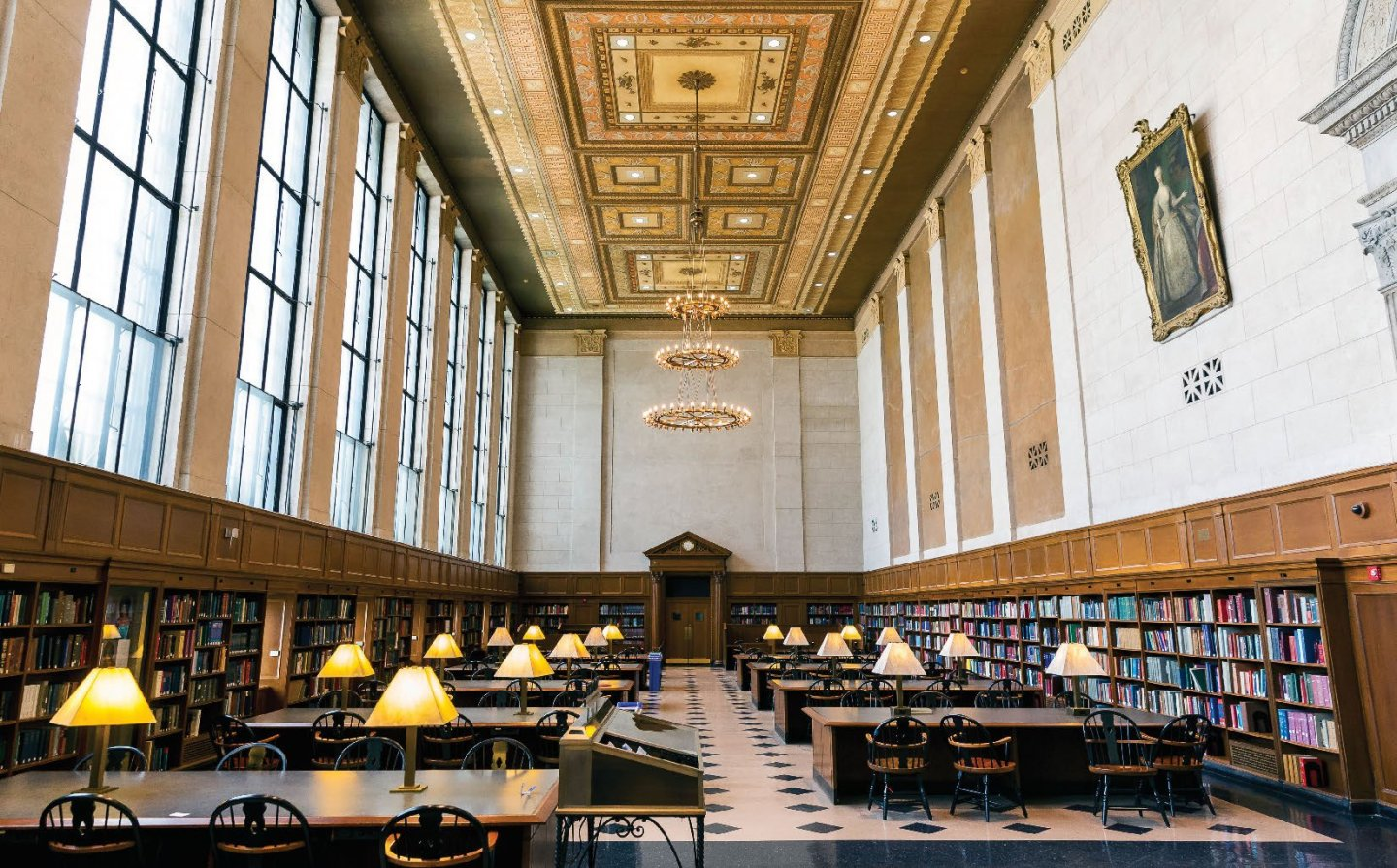 Photograph of Butler Library reading room