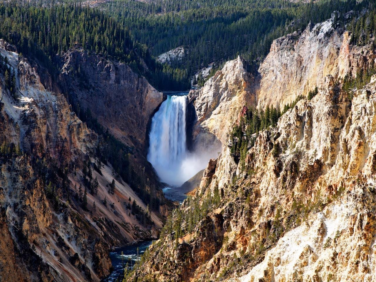 Grand Canyon Falls at Yellowstone National Park, Wyo.