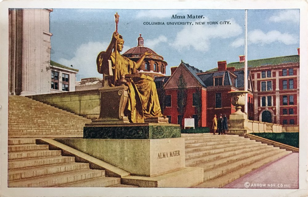 Postcard showing Alma Mater