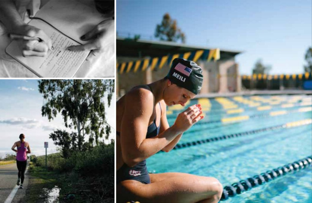 Three photos of Katie Meili '13