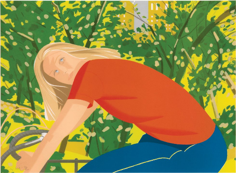 Alex Katz, Bicycle Rider (Bicycling in Central Park), 1982; Color lithograph; Metropolitan Museum of Art (p. 121)