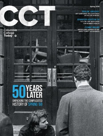 Cover of Columbia College Today Magazine, Spring 2018 edition