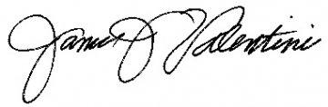 (signed) James J. Valentini