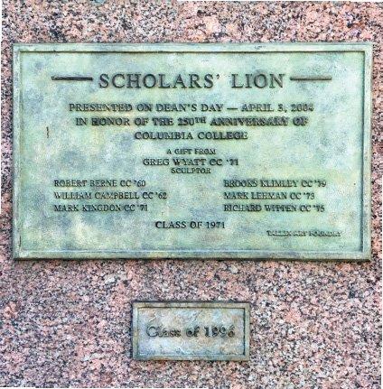 Scholar's Lion Plaque