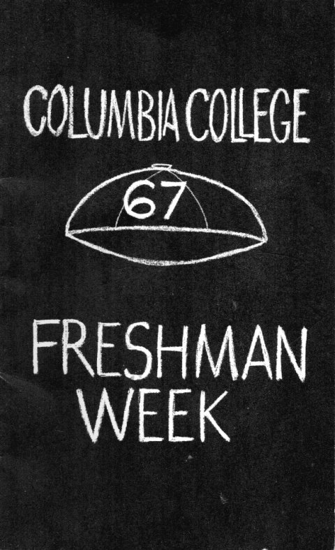 the cover of the Class of 1967 Freshman Week booklet.