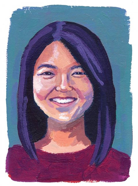 Illustration of Katherine Jin '16