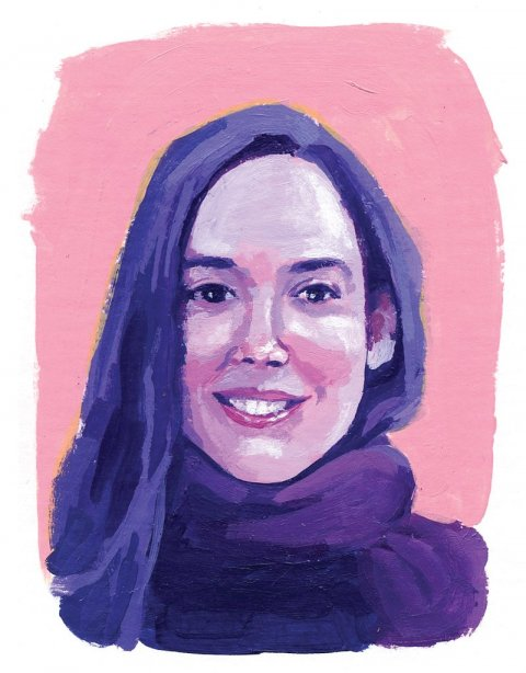 Illustration of Ayla Bonfiglio '09
