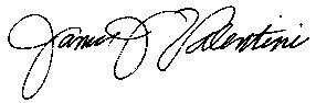 signature of James J Valentini