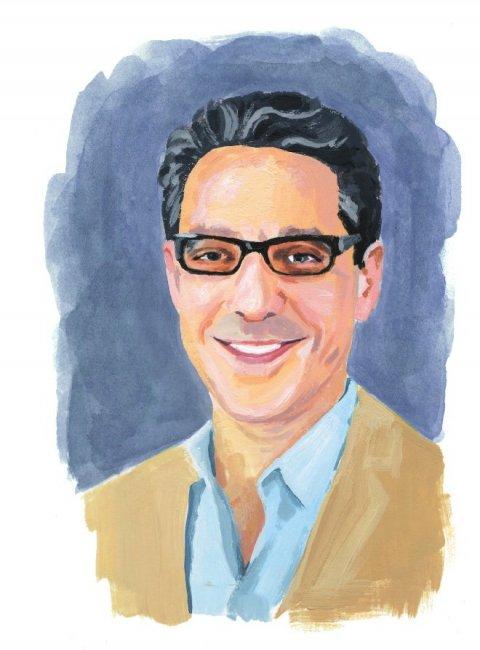 Illustration of Noam Elcott '00