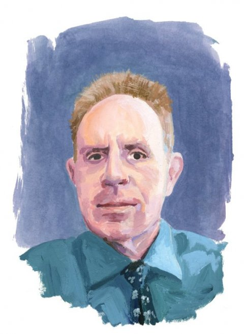 Illustration of Edward Mendelson