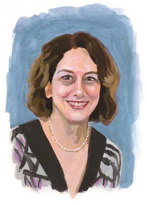 Illustration of Elaine Sisman