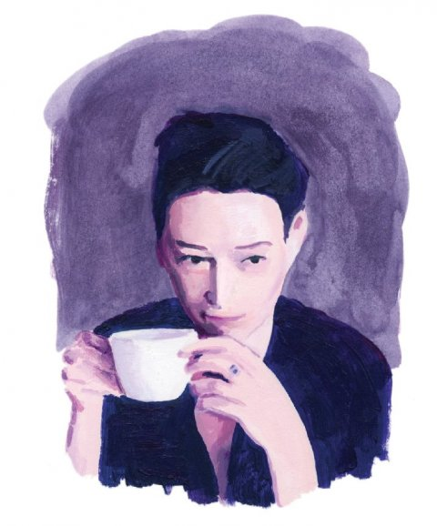 Illustration of Katja Vogt