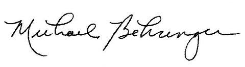 Signature of Michael Behringer '89